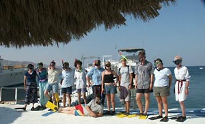 Aqaba MPP Snorkelers on Land (this and following photos by Douglas Clark)