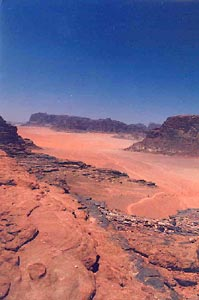 Wadi Rum in the Southern Jordan Desert (photo by Carmen Clark)