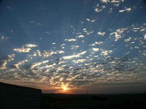 Sunrise Over `Umayri