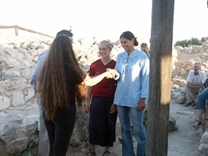 Andrea DeGagne and Kristy Huber Accepting Their Stone Fragments