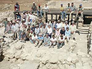 The 2004 Team with Our Workers at the Four-room House