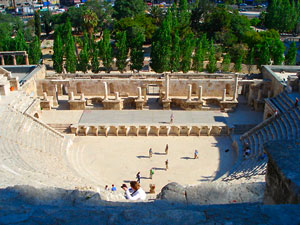 Amman Roman Theater which could seat up to 5,000 people (photo by Carmen Clark)