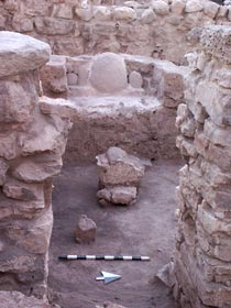 The cultic niche and presentation altar in the palace/temple of Field B