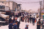 Street scene in the Baqa' Refugee Camp on a typical day.