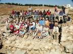 The 2006 Tall al-`Umayri excavation team at the site, along with our local labor force